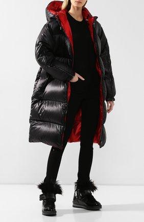 Женские текстильные ботинки JOG DOG черного цвета, арт. 14056R/DR_ZAFFIR0FLASH/DYED FUR/W | Фото 2