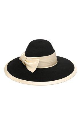 Женская фетровая шляпа GUCCI черного цвета, арт. 603493/3HJ17 | Фото 1