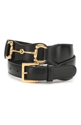 Женский кожаный ремень GUCCI черного цвета, арт. 600636/1NS0G | Фото 1