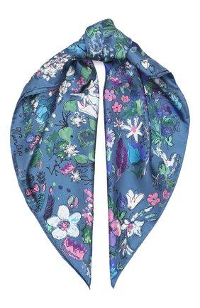 Женский шелковый платок SALVATORE FERRAGAMO синего цвета, арт. Z-0726124 | Фото 1