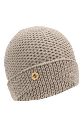 Женский кашемировая шапка LORO PIANA бежевого цвета, арт. FAE1298 | Фото 1