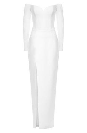 Женское платье-макси RASARIO белого цвета, арт. 0011W9 | Фото 1