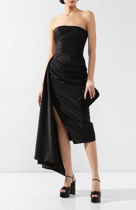 Женское платье с оборкой RASARIO черного цвета, арт. 0087W9_1 | Фото 2