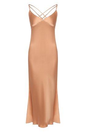 Женская шелковая сорочка LUNA DI SETA коричневого цвета, арт. VLST60540_9120 | Фото 1