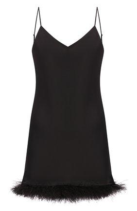 Женская шелковая сорочка LUNA DI SETA черного цвета, арт. VLST60567_0031 | Фото 1