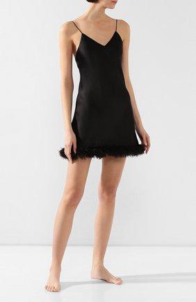 Женская шелковая сорочка LUNA DI SETA черного цвета, арт. VLST60567_0031 | Фото 2