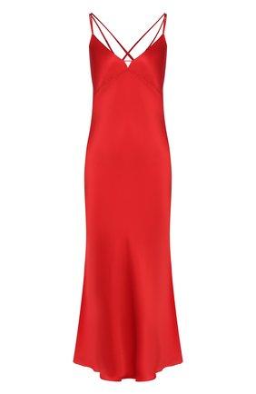 Женская шелковая сорочка LUNA DI SETA красного цвета, арт. VLST60540_9509 | Фото 1