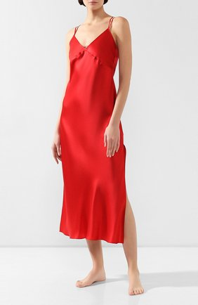 Женская шелковая сорочка LUNA DI SETA красного цвета, арт. VLST60540_9509 | Фото 2