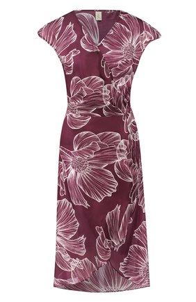 Женское платье из смеси хлопка и шелка GOTTEX бордового цвета, арт. 20LY341   Фото 1