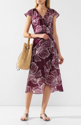 Женское платье из смеси хлопка и шелка GOTTEX бордового цвета, арт. 20LY341   Фото 2