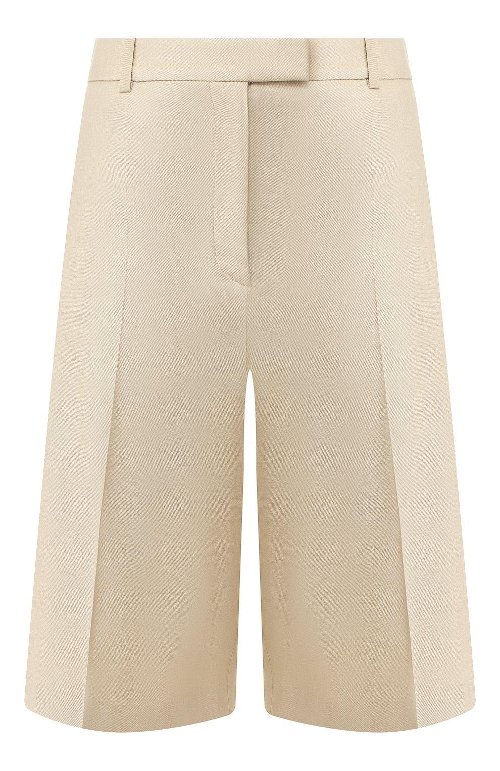 Женские шорты BOSS бежевого цвета, арт. 50424486 | Фото 1