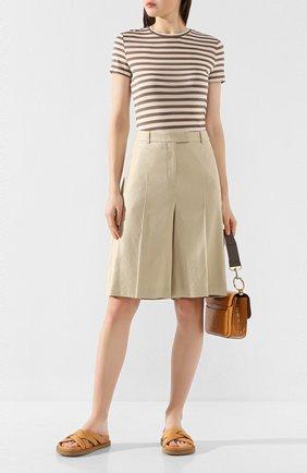 Женские шорты BOSS бежевого цвета, арт. 50424486 | Фото 2
