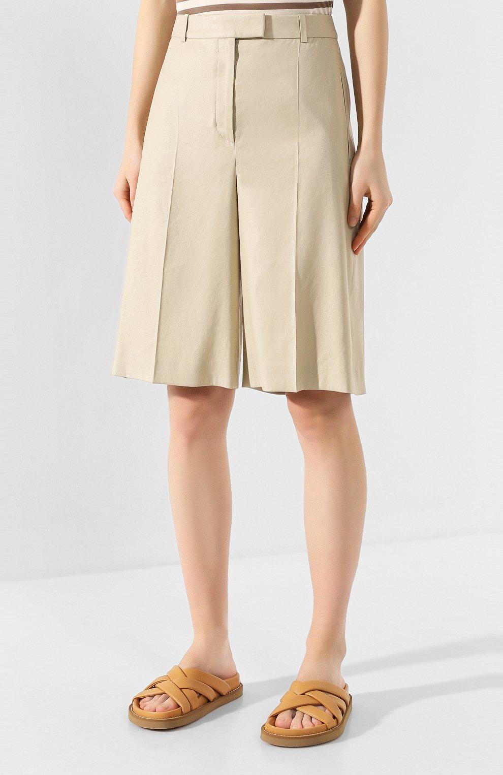 Женские шорты BOSS бежевого цвета, арт. 50424486 | Фото 3