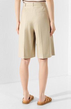 Женские шорты BOSS бежевого цвета, арт. 50424486 | Фото 4