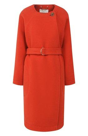 Женское шерстяное пальто CHLOÉ оранжевого цвета, арт. CHC20SMA06072   Фото 1