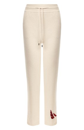 Женские кашемировые брюки LORO PIANA бежевого цвета, арт. FAL0259 | Фото 1