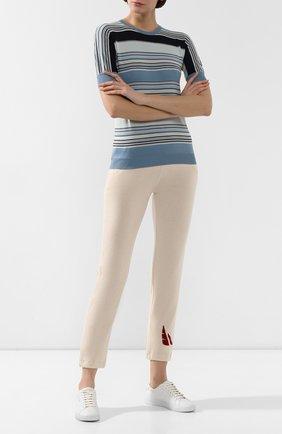 Женские кашемировые брюки LORO PIANA бежевого цвета, арт. FAL0259 | Фото 2
