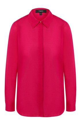 Женская хлопковая рубашка THEORY фуксия цвета, арт. J1104511 | Фото 1