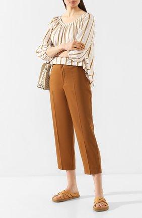 Женские хлопковые брюки FORTE_FORTE хаки цвета, арт. 7017 | Фото 2