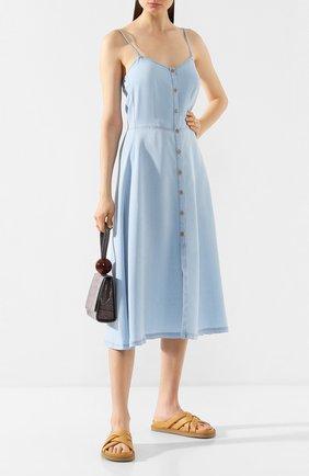 Женское платье FORTE_FORTE голубого цвета, арт. 7036 | Фото 2
