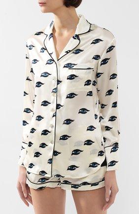 Женская шелковая пижама OLIVIA VON HALLE белого цвета, арт. PS2021 | Фото 2