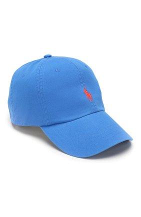 Мужской хлопковая бейсболка POLO RALPH LAUREN синего цвета, арт. 710673213 | Фото 1