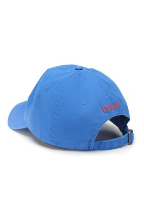 Мужской хлопковая бейсболка POLO RALPH LAUREN синего цвета, арт. 710673213 | Фото 2
