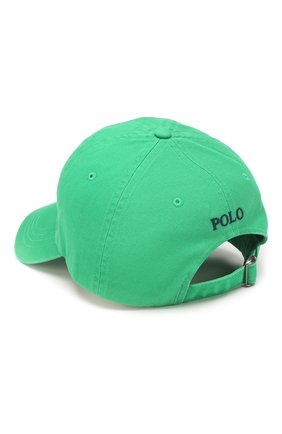 Мужской хлопковая бейсболка POLO RALPH LAUREN зеленого цвета, арт. 710673213 | Фото 2