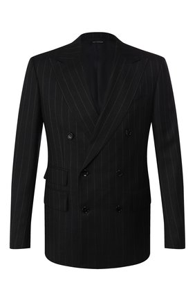 Мужской шерстяной пиджак TOM FORD темно-серого цвета, арт. 644R08/11ED40 | Фото 1