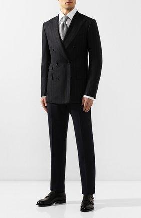 Мужской шерстяной пиджак TOM FORD темно-серого цвета, арт. 644R08/11ED40 | Фото 2