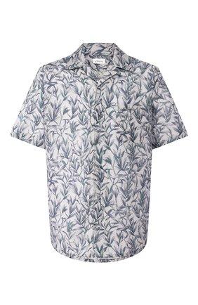 Мужская рубашка из смеси льна и хлопка BRIONI серого цвета, арт. SCCI0L/P9120 | Фото 1