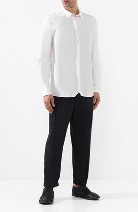 Мужская хлопковая рубашка TRANSIT белого цвета, арт. CFUTRKS280   Фото 2