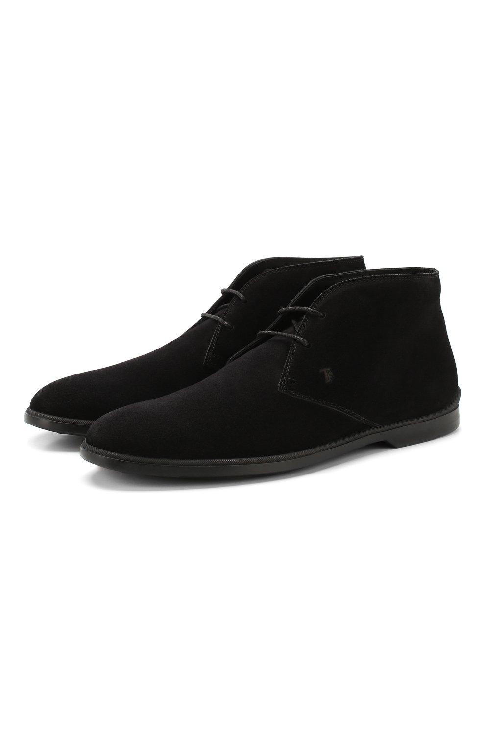 Мужские замшевые ботинки TOD'S черного цвета, арт. XXM07B00D80RE0 | Фото 1