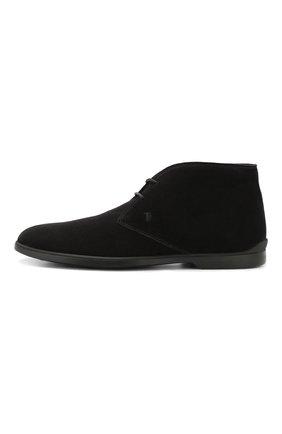 Мужские замшевые ботинки TOD'S черного цвета, арт. XXM07B00D80RE0 | Фото 3