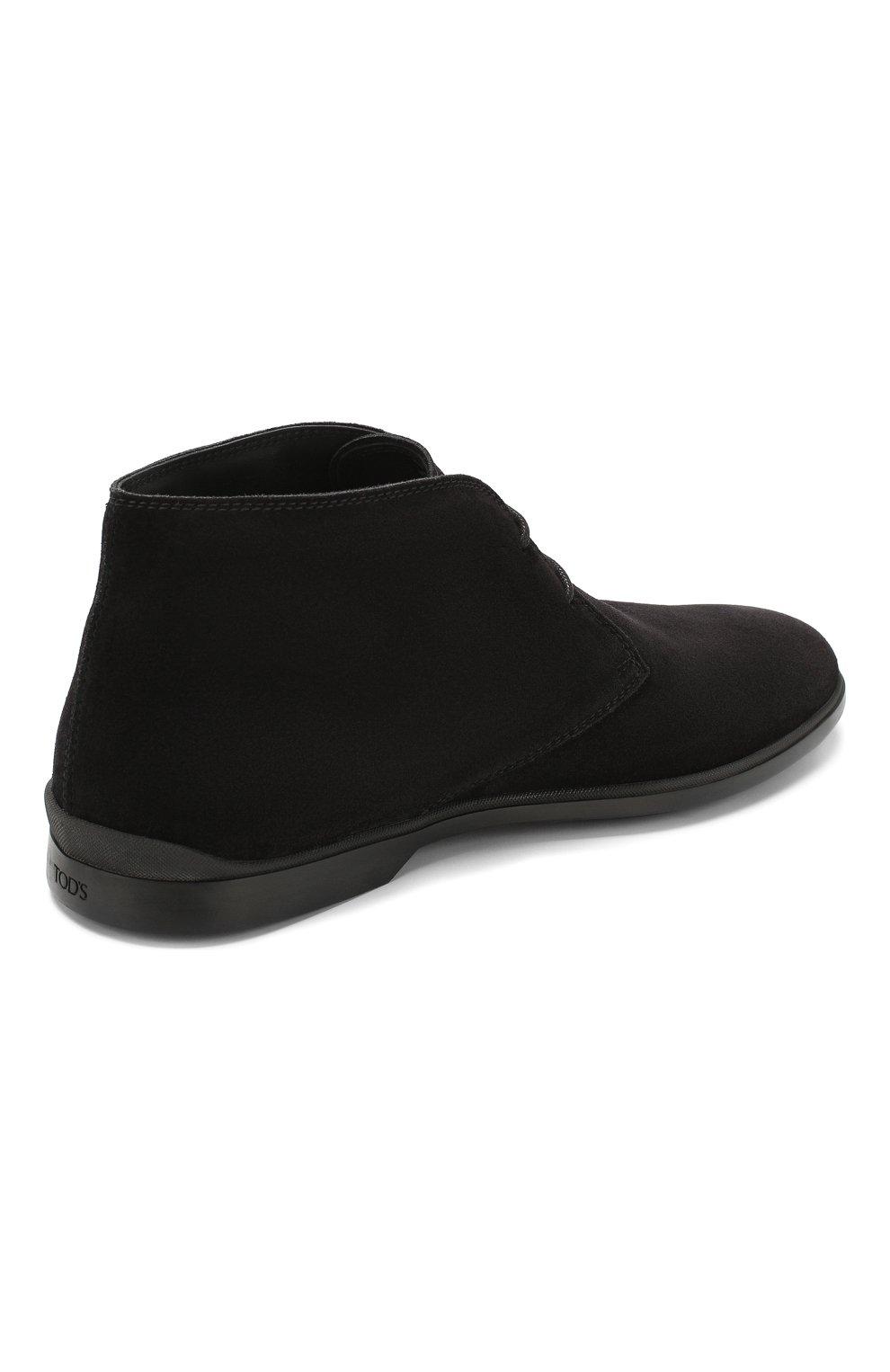 Мужские замшевые ботинки TOD'S черного цвета, арт. XXM07B00D80RE0 | Фото 4