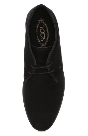 Мужские замшевые ботинки TOD'S черного цвета, арт. XXM07B00D80RE0 | Фото 5