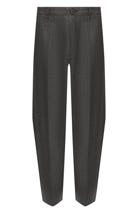 Мужской шерстяные брюки BALENCIAGA серого цвета, арт. 595288/TGT15 | Фото 1