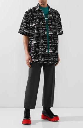Мужской шерстяные брюки BALENCIAGA серого цвета, арт. 595288/TGT15 | Фото 2