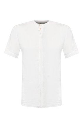 Мужская льняная рубашка TRANSIT белого цвета, арт. CFUTRKT291   Фото 1