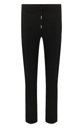 Мужские хлопковые брюки KITON черного цвета, арт. UK1051   Фото 1
