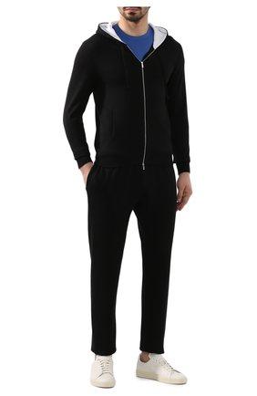 Мужские хлопковые брюки KITON черного цвета, арт. UK1051   Фото 2