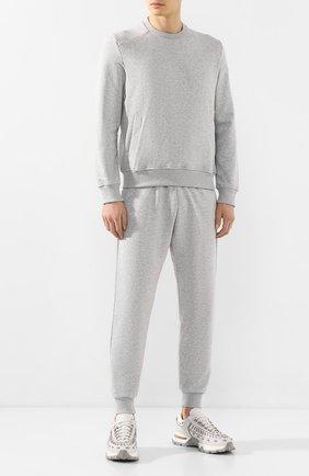 Мужской хлопковый свитшот ERMENEGILDO ZEGNA серого цвета, арт. N6ML00920 | Фото 2