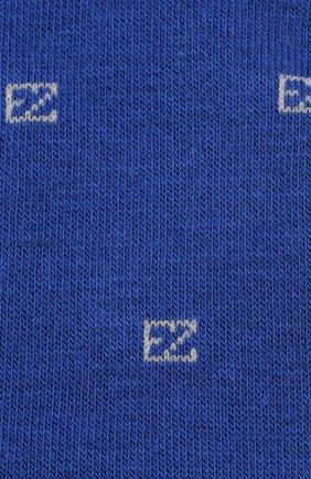 Мужские хлопковые носки ERMENEGILDO ZEGNA синего цвета, арт. N5V022800 | Фото 2