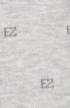 Мужские хлопковые носки ERMENEGILDO ZEGNA серого цвета, арт. N5V022800 | Фото 2