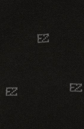 Мужские хлопковые носки ERMENEGILDO ZEGNA черного цвета, арт. N5V022800 | Фото 2