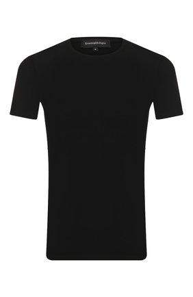 Мужские хлопковая футболка ERMENEGILDO ZEGNA черного цвета, арт. N3M200950 | Фото 1