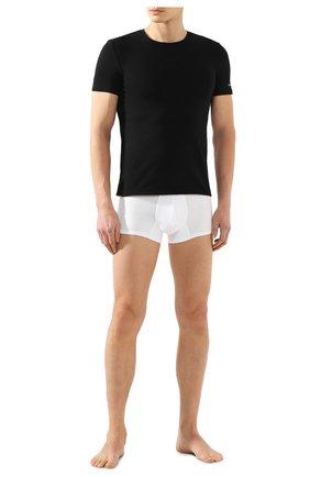 Мужские хлопковая футболка ERMENEGILDO ZEGNA черного цвета, арт. N3M200950 | Фото 2