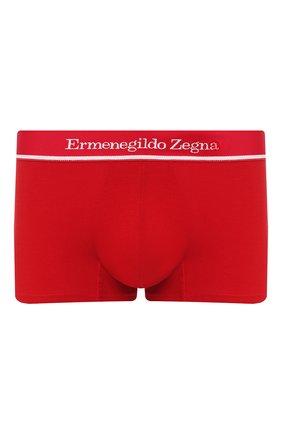 Мужские хлопковые боксеры ERMENEGILDO ZEGNA красного цвета, арт. N3LC60950 | Фото 1