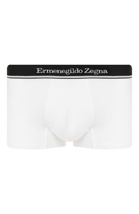 Мужские хлопковые боксеры ERMENEGILDO ZEGNA белого цвета, арт. N3LC60950 | Фото 1
