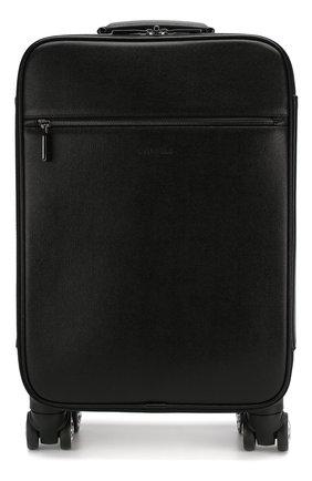 Мужской кожаный чемодан CANALI черного цвета, арт. P325408/NA00053 | Фото 1